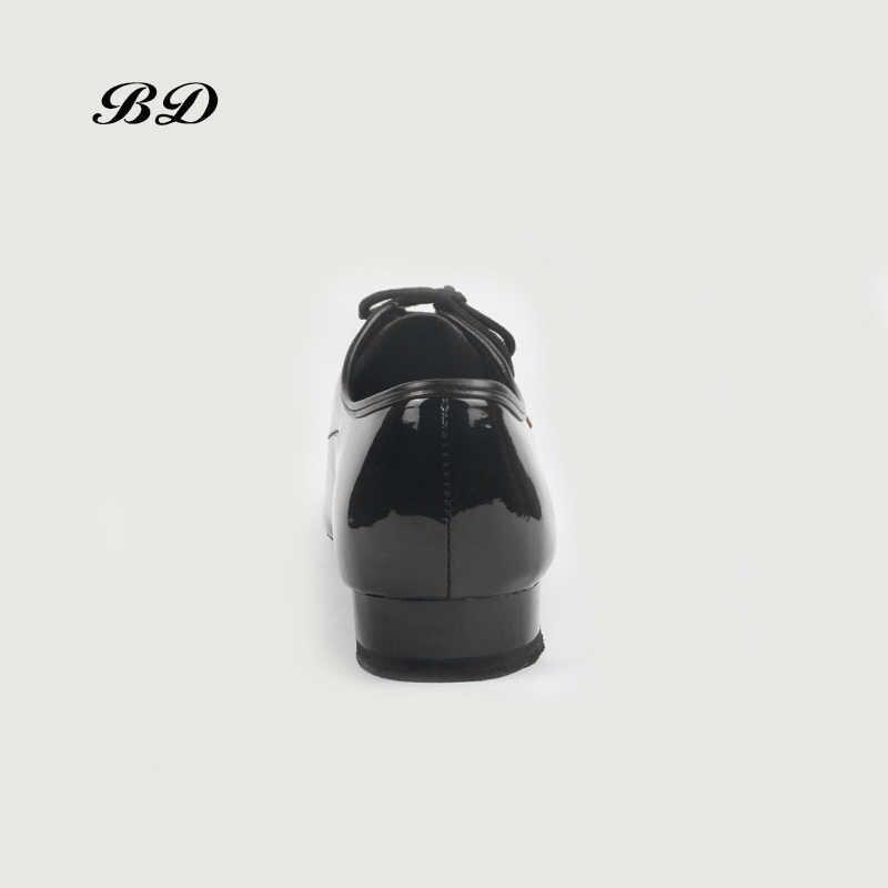 Top Bd Dansschoenen Ballroom Mannen Latin Schoenen Man Schoen Bddance 317 Authentieke Geïmporteerd Lakleer Koeienhuid Zool Duurzame Slip-Op