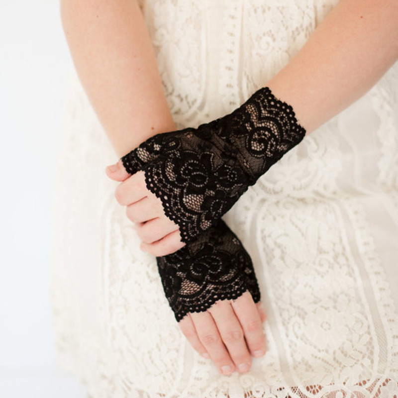 Long Fingerless Womens Sexy Lace Gloves