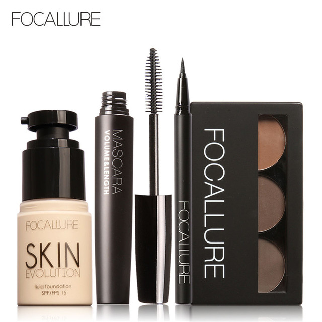 Focallure Makup Tool Kit 4 Pcs Must Have Cosmetics Including
