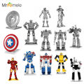 MrPomelo Metal Marvel Iron Man WAR MACHINE OPTIMUS PRIME MEGATRON BUMBLEBEE SOUNDWAVE Metal 3D  Model Kit Earth Puzzle Kids Toys
