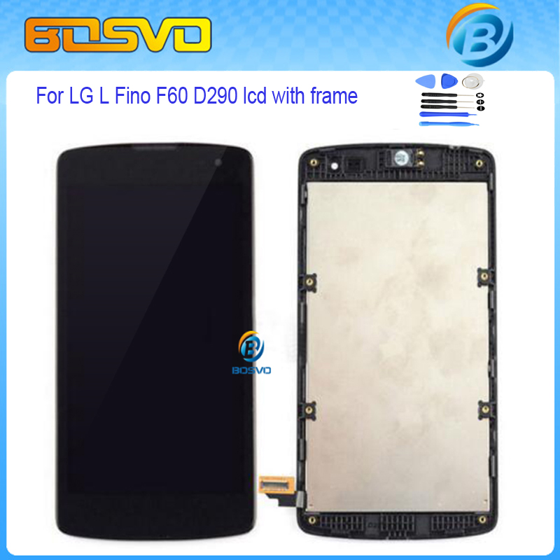 ФОТО New Replacement full screen For LG L Fino D392 D390 D290D 290N D295 lcd display with touch digitizer with frame assembly 1 piece