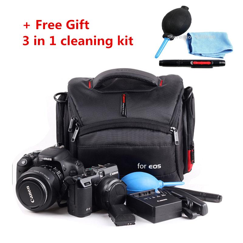 Prix pour Livraison 3 en 1 Kit + Étanche Camera Case Sac Pour Canon EOS DSLR 1100D 760D 6D 70D 1200D 550D 60D 7D 750D 700D 650D 600D