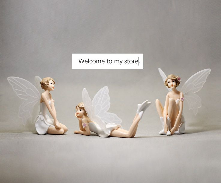 Toys & Hobbies Frugal Pvc Figure Simulation Toy Doll Model Flower Fairy White Angel Girl Long Wings Girl Doll Hand Doll Model 3pcs/set