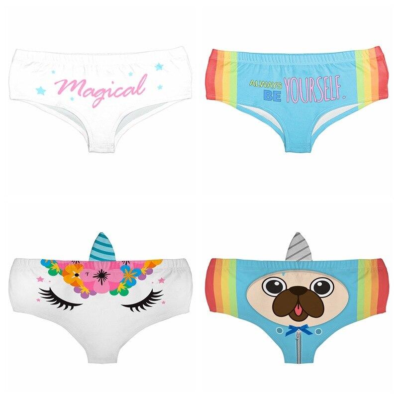 Funny Panties Knickers Cute Lady Pants Soft Briefs Women Underwear 3D Cat Print