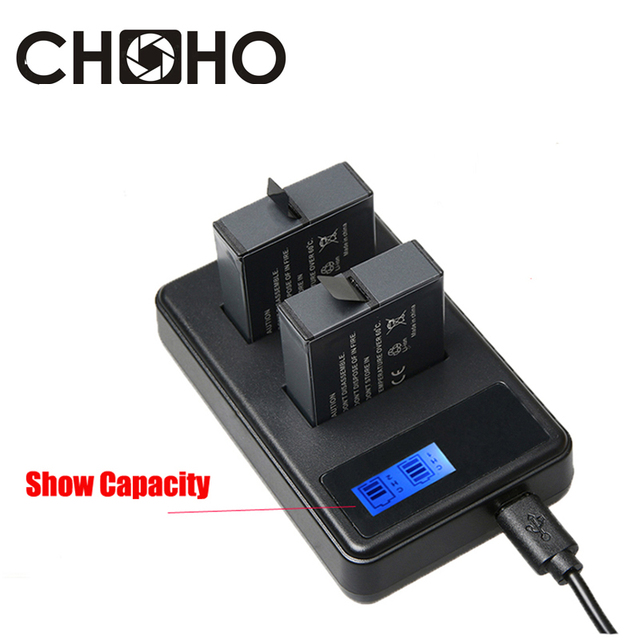 Dual Charger AHDBT-501 USB Cable AHDBT501 AHDBT 501 LCD Display Capacity  for Go Pro HERO 5 6 Black Accessories 5b2ed7e77b