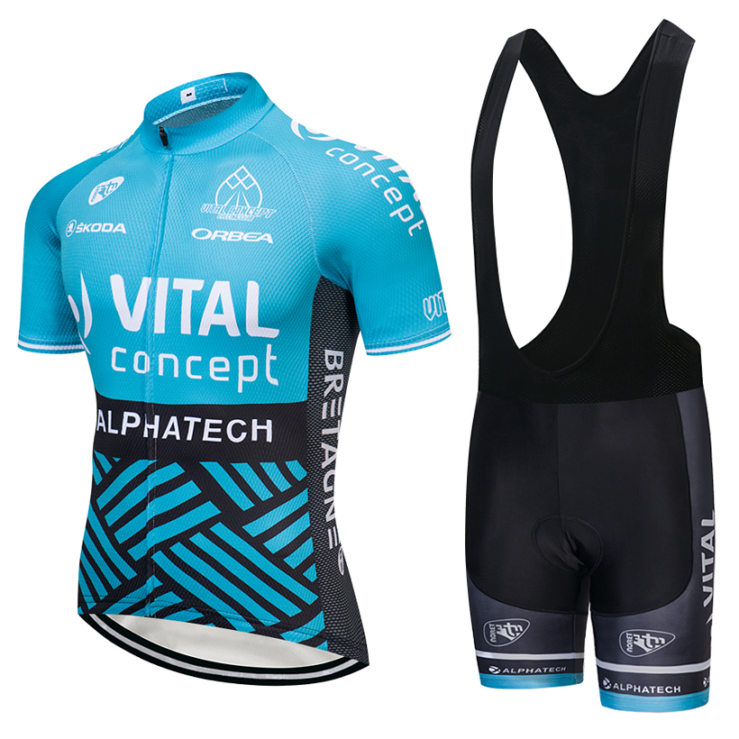 UCI team 2018 VITAL cycling jersey 9D pad Bike shorts set MTB mens summer ropa ciclismo cycling wear pro BICYCLE Maillot Culotte цена