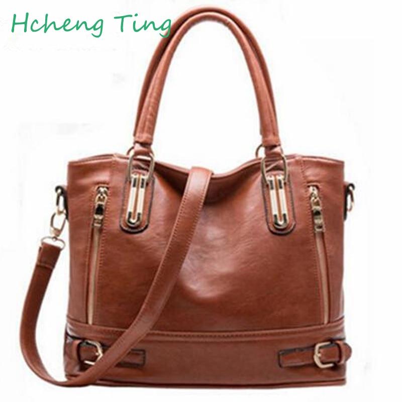 Brand font b Polo b font WomenLeather Handbags ladies Shoulder bags tote Bag female Retro Vintage