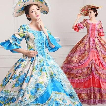 Discreet Hot! Global Rococo Prinses Prom Gown 18e Eeuw Party Dress Kostuum Voor Party 2017 Het Verstrekken Van Voorzieningen Voor Het Volk; Het Leven Gemakkelijker Maken Voor De Bevolking