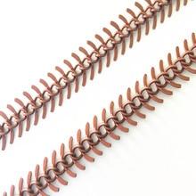 2 м/лот, антикварная медная цепочка в форме рыбьей косточки, цепочка, сделай сам, мини цепь, аксессуары, подвеска, цепь 5 мм x 11 мм