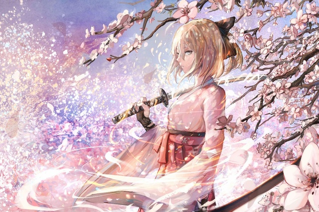 cherry blossoms anime fate stay night saber sishenfan KD243 living ...