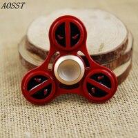 AOSST Deadpool Metal Hand Spinner Fidget Spinner Finger Spinner Tri Spinner Stress Wheel Fidget Toy
