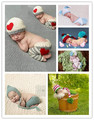 Cute Baby Photo Props Newborn Baby Girls Boys Photo Photography Prop Crochet Knit Costume Pants with Hat
