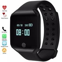 Fashion Men Digital Watches Sport Smartband Blood Pressure Pulse Heart Rate Fitness Tracker Smart Watch Bracelet Waterproof