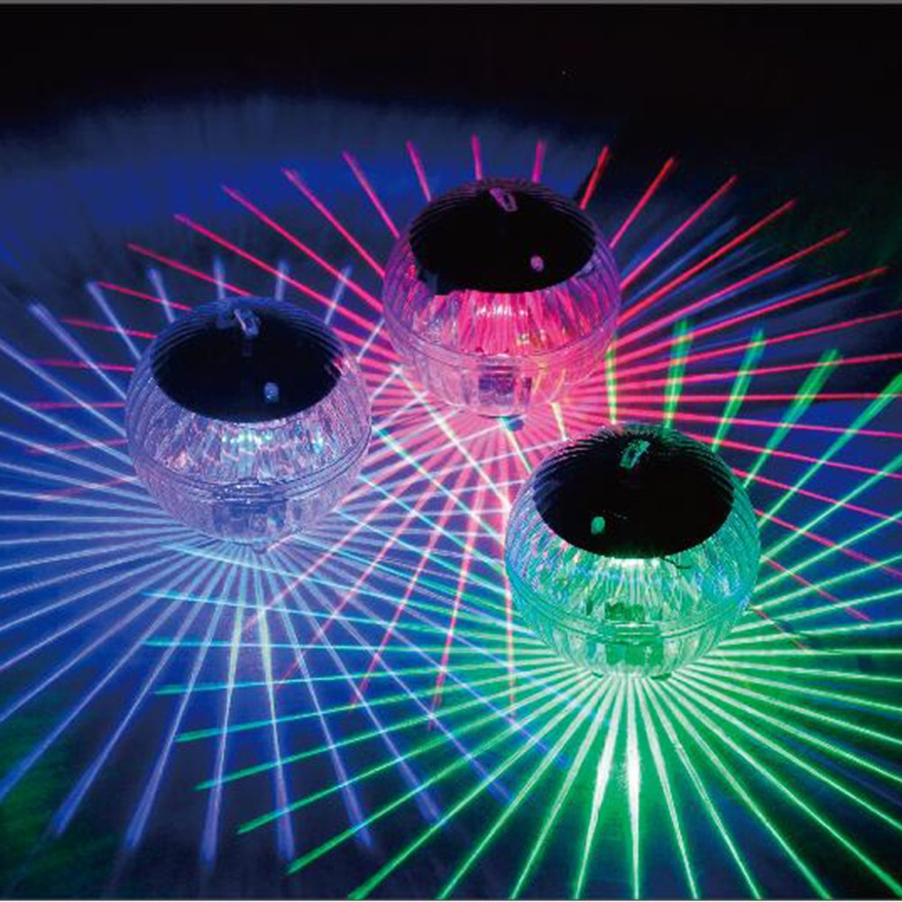 Swimming Pool Waterproof LED Solar Power Multi Color Changing Water Drift Lamp Floating Light Security Dropship#0409