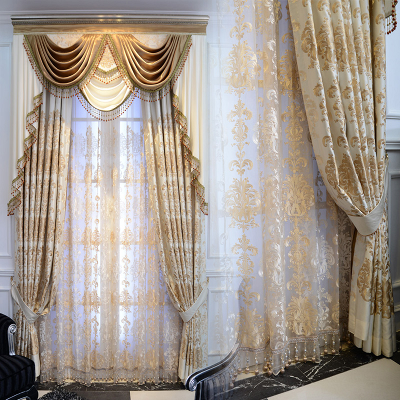 Luxury Brief Fashion Embroidered Curtain Cloth Quality