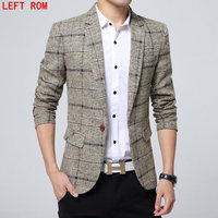 2017 New Spring Fashion Brand Party Blazer Men Casual Suit Jacket Men Slim Fit Suits Trend
