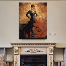Spanish Flamenco Dancer painting latina woman Oil painting on canvas hight Quality Hand-painted Painting latina 09