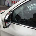 car auto cover styling For Nissan Qashqai 2015 2016 ABS chrome side wing fender rearview mirror sun fine rain guard shield trim