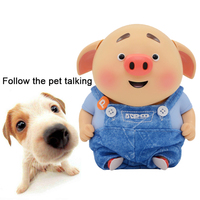 Little Pig Repeat The Words of Pet Recordable Pet Squeak Toys Play Music Funny Puzzle Vocal Dog Toys for Small Large Dogs Cats