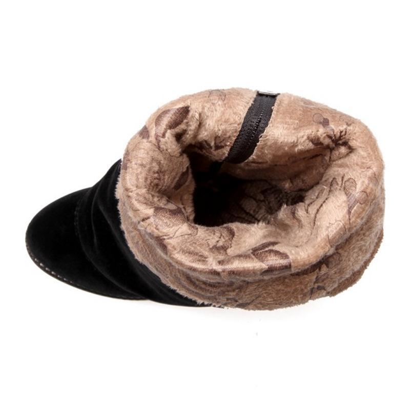 Bottes Haut Femme Taille 43 33 Talon Bowknot Dames Femmes Bowtie Épaissie Chaussures Du Chaud Zipper D'hiver Au dessus Fourrure Kemekiss Noir Genou B0wqST5