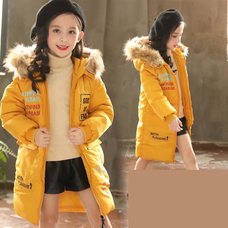 2018 Winter Jacket For Girls Korean Toddler Girls Cotton Down Coats Girl Winter Fur Collar Children's Parkas Winterjas Meisjes цена 2017