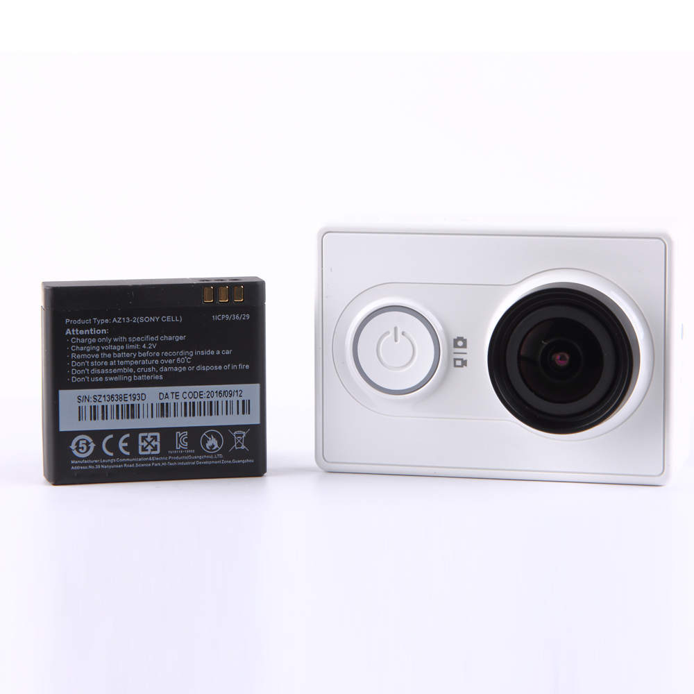 International Version Yi Action Camera Sport Kamera Xiaomi Basic Edition Case Waterproof Original White
