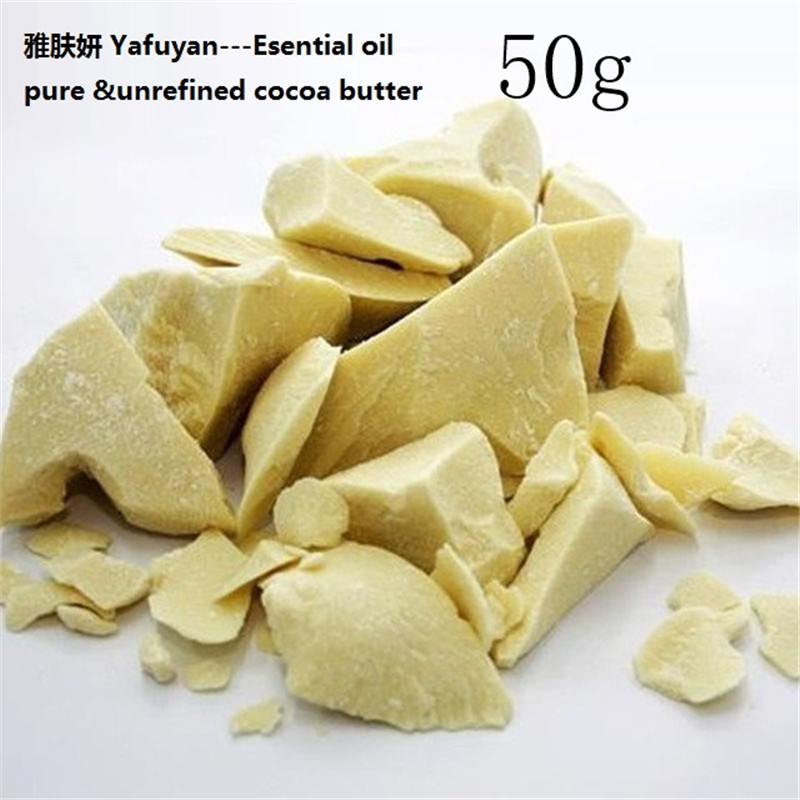 YAFUYAN 50gPure Cocoa Butter Ounces Raw Unrefined Cocoa Butter Base Oil Natural ORGANIC 2018 NEW Essential Oil food grade original 1kg natural cocoa butter chocolate raw unrefined special incense 100