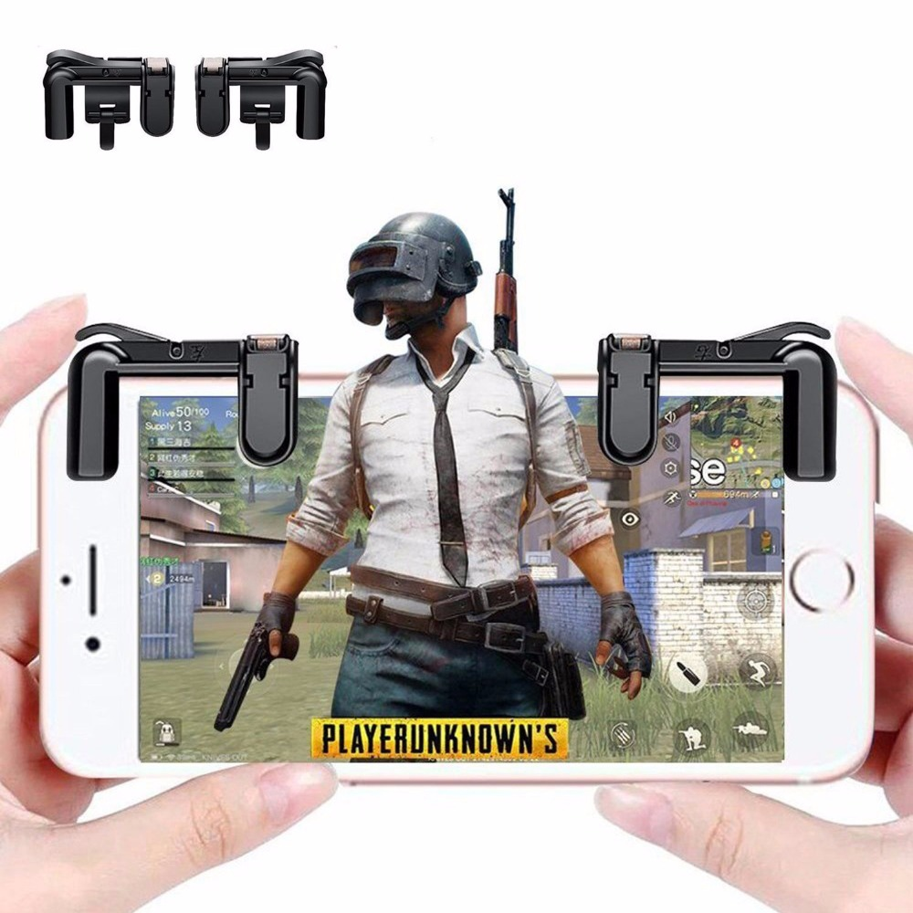 Mobile Game Controller -Shoot and Aim Triggers for PUBG/Knives Out/Rules of Survival Mobile Game Trigger Joystick Gamepad