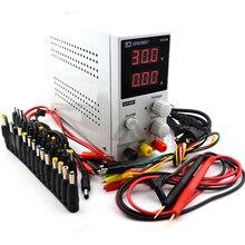 Reguladores de voltaje LW K305D interruptor de laboratorio de 30V 5A Mini DC fuente de alimentación 0,1 V 0.01A pantalla Digital ajustable + DC Jack + pen