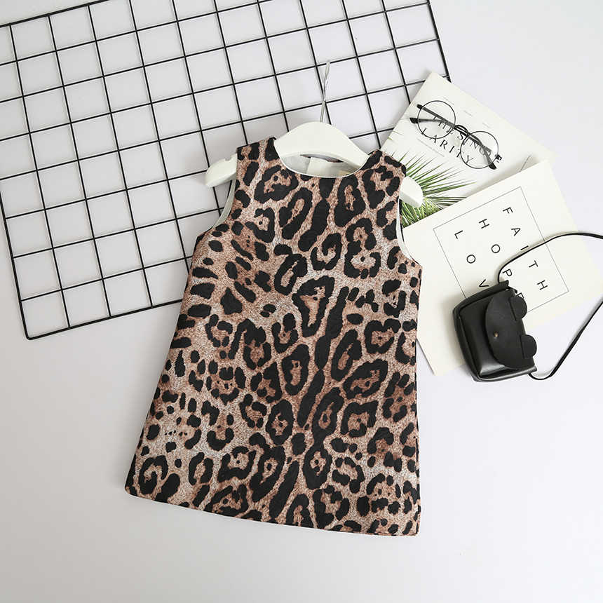 d1880c949 Detail Feedback Questions about Baby Girl Leopard Print Dress Toddler Kids  Designer Party Dress Sleeveless Children Fashion Boutique Clothes Girl  Holiday ...