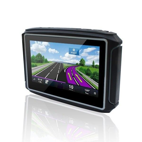 """Лучшие Продажи 4.3 """"Сенсорный экран Мини-Мотоцикл gps навигации FM bluetooth Водонепроницаемый IPX65 gps навигация с 8 ГБ Бесплатная карта"""