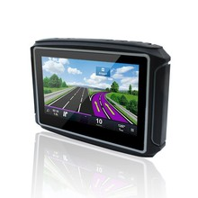 Best Sale 4.3″ Touch screen Mini Motorcycle gps navigation FM bluetooth Waterproof IPX65 gps navigation with 8GB Free map