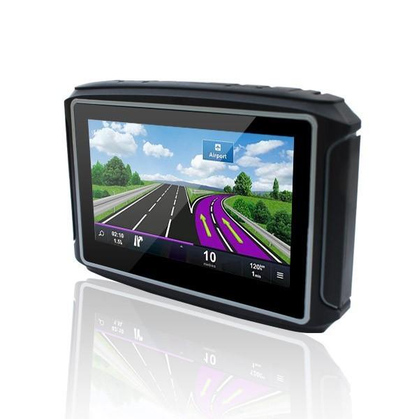 """Melhor Venda de 4.3 """"Touch screen Mini Motocicleta navegação gps FM bluetooth Waterproof IPX65 gps navigation com 8 GB Livre mapa"""