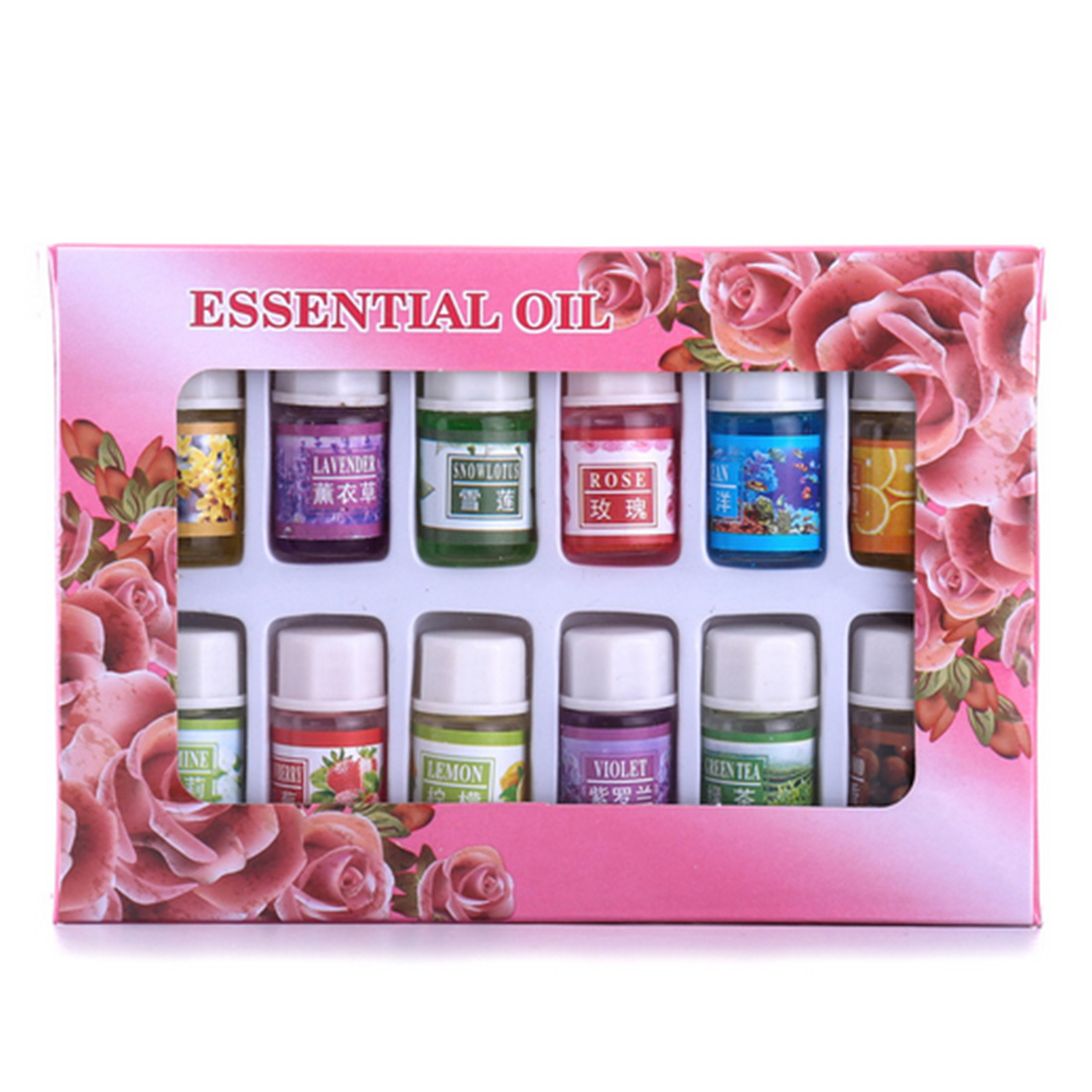 Купить с кэшбэком 12PCS/Set 3ml Natural Plants Aromatic Fragrance Essential Oil Water-soluble Flavor Oil Spa Massage Oil Aromatherapy Supply