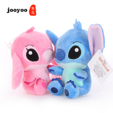 New Cartoon Kawaii Stitch Plush Doll Toys Anime Stich Plush Toys For Kids Toy Pillow Appease Gift Cushion Gift For Children недорого