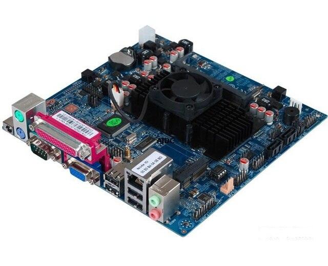 Para intel atom dc 12 v motherboard atom d525 dual-core caixa registradora motherboard industrial motherboard 1037u