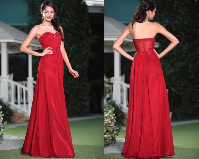 Special occasion dresses classical sweetheart straight sweep train