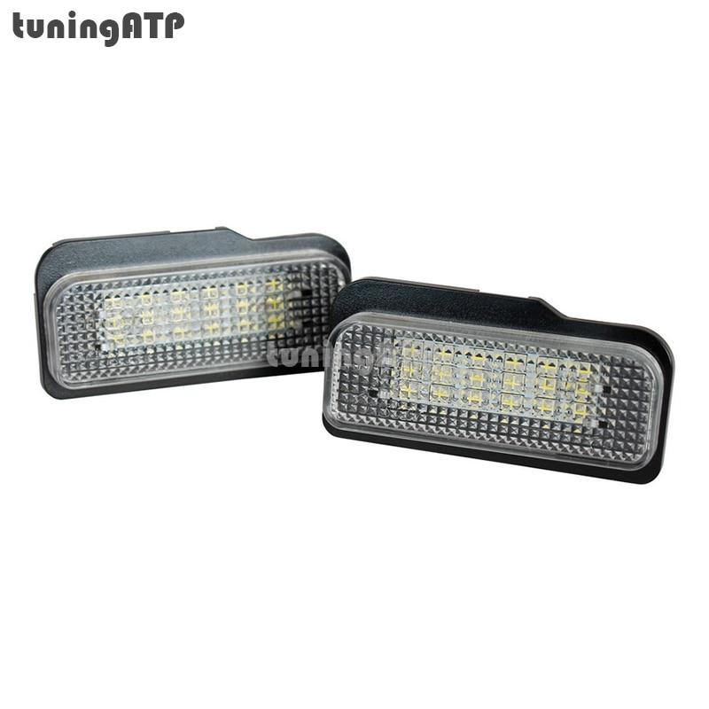 2x 18-SMD LED License Plate Lights for Mercedes Benz S203 W203 Estate Wagon / W211 Sedan W211 Estate Wagon / CLS W219 / SLK R171 for mercedes benz slk r171 2004 2011 led car license plate light number frame lamp high quality led lights