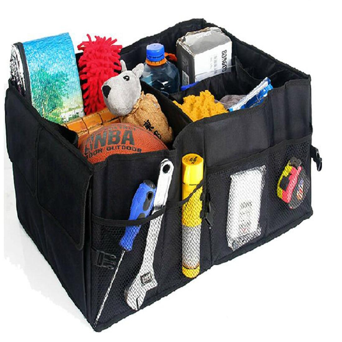 1x car trunk storage bag multifunction racks folding nets car trunk bag organizer bag toolbox. Black Bedroom Furniture Sets. Home Design Ideas
