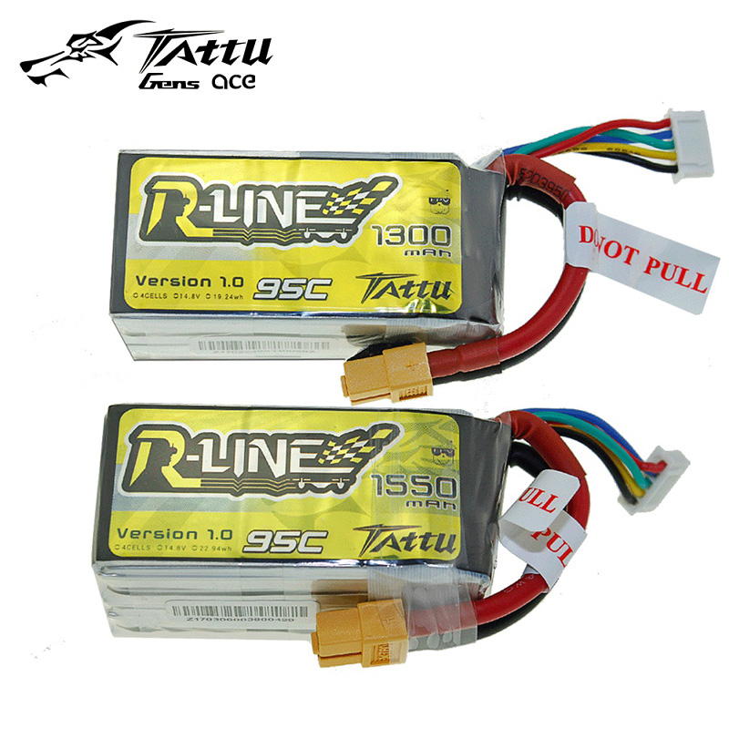 TATTU LiPo Battery 4S 1300mah 1550mah 14.8V 95C  XT60 Violence Lithium Li-Polymer Battey for RC FPV Racing Drone Quadcopter ToysTATTU LiPo Battery 4S 1300mah 1550mah 14.8V 95C  XT60 Violence Lithium Li-Polymer Battey for RC FPV Racing Drone Quadcopter Toys