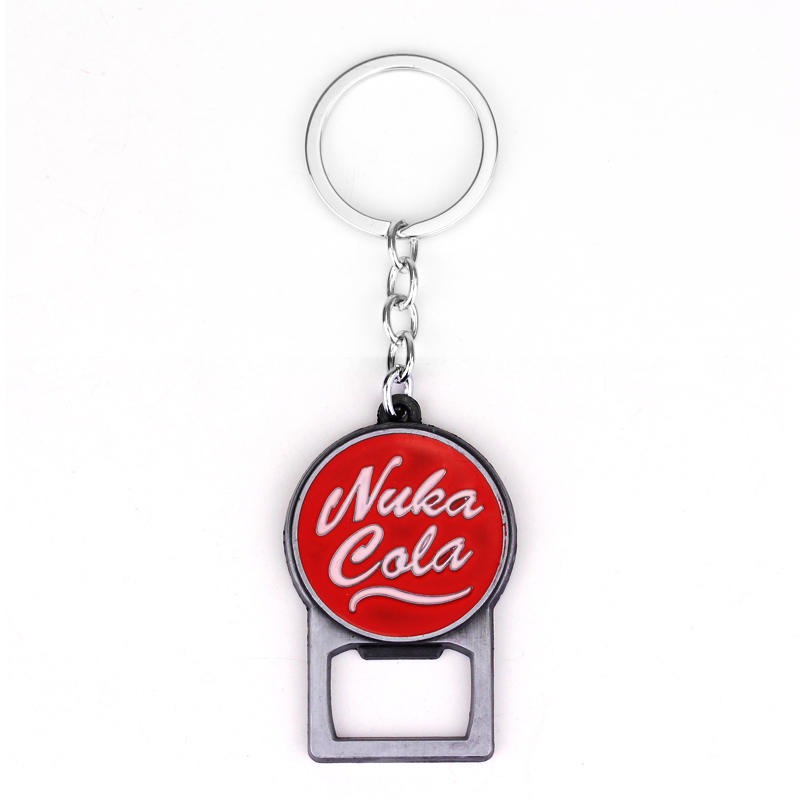 Fashion Game Jewelry Pip Boy Nuka Cola keychain Jewelry Gift For Men Car Key Accessories