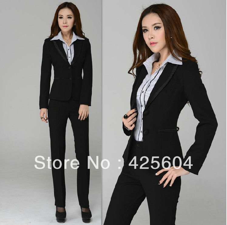 187baa36e2b5c New Winter Autumn Plus Size XXL Women Pant Suits Formal Women ...