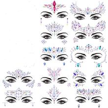 METABLE 12 Sets Face Gems Glitter Mermaid Jewels Crystal Stickers for Festival music, mermaiad party