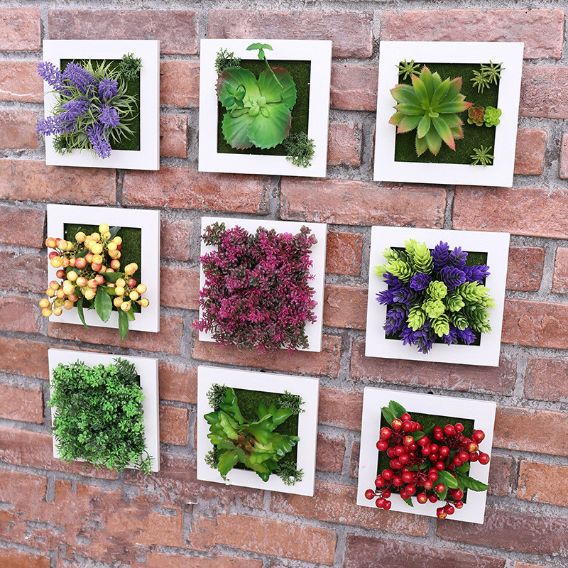 1piece creative 3d stereo simulation plant photo frame for Cadre floral mural