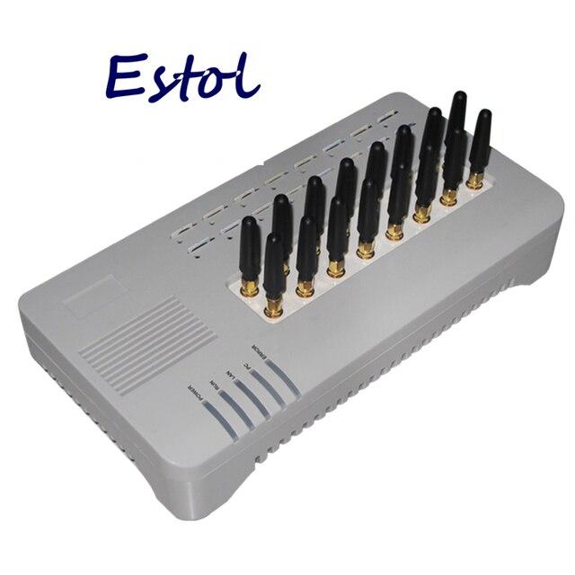 DBL GOIP16 czterozakresowy VOIP bramka GSM 16 kanałowy GOIP 16 GOIP 16 zmiana IMEI sim banku najtańsze bilety na połączenia 16 karty SIM SMS VOIP krótka antena