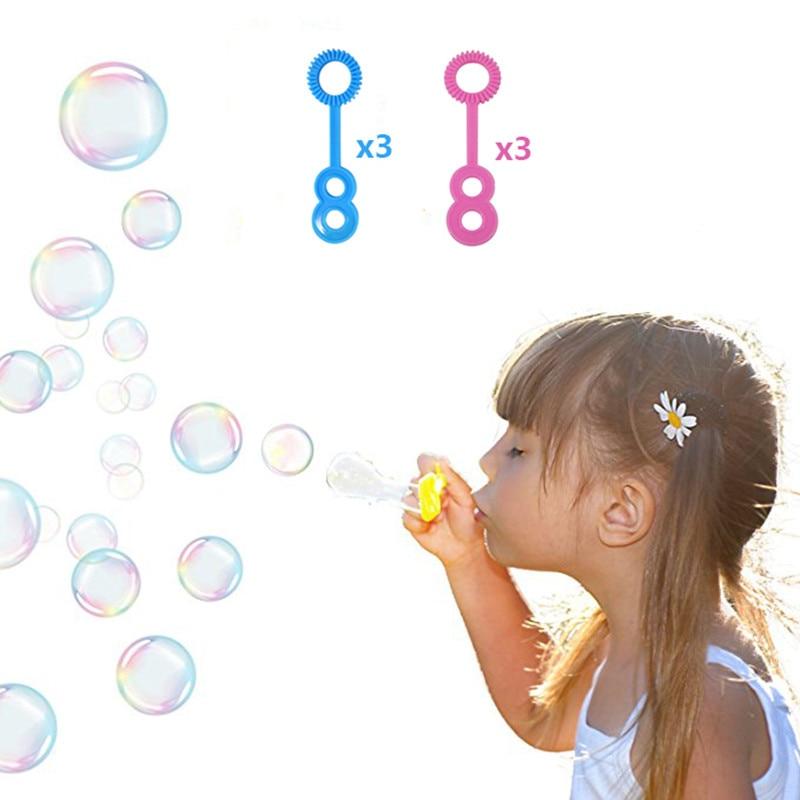 Kids AutomaticBubbles Machine for Children Lovely Design Durable Automatic Bubble Maker with 6 pcs Bubble Wands Boys Girls