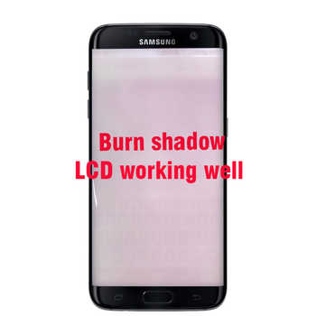 ORIGINAL 5.5\'\' AMOLED Display with Burn Shadow Ghost image for SAMSUNG s7 edge Pantalla G935 G935F LCD with Frame Touch Screen