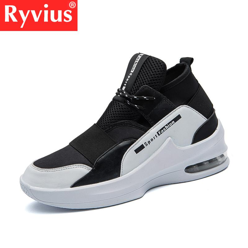 Ryvius Brand Autumn And Winter Men's Running Shoes Trend Men's Breathable Sports Shoes Air Cushion Flat Shoes Training Shoes