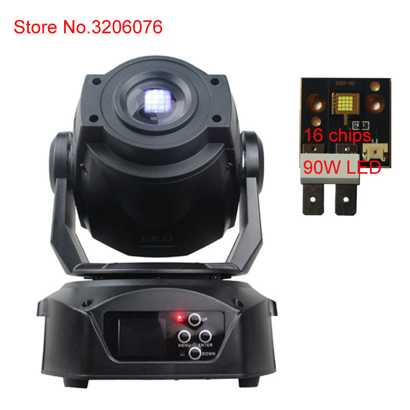 цена hot sale led spot moving head 90w pinspot stage lighting equipment night club dj disco focus strobe gobo stage light effect