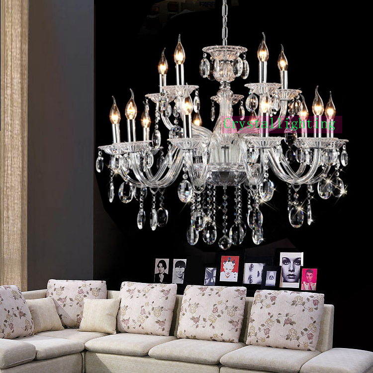 Modern Living Room Luxury Chandelier Contemporary Crystal
